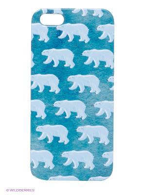 Чехол для IPhone 5 Северные мишки Mitya Veselkov. Цвет: синий, голубой