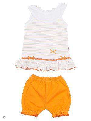 Платье+шорты Babycollection. Цвет: оранжевый