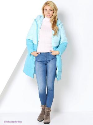 Пальто DizzyWay. Цвет: голубой, бирюзовый