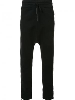 Спортивные брюки с заниженным шаговым швом Barbara I Gongini. Цвет: чёрный
