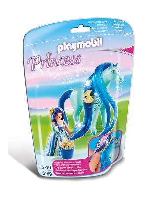 Принцессы: Принцесса Луна с Лошадкой Playmobil. Цвет: голубой