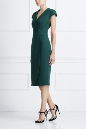 Шерстяное платье NATALIA GART. Цвет: зеленый