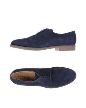 Обувь на шнурках ANTICA CUOIERIA. Цвет: темно-синий