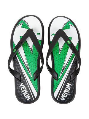 Сланцы Venum Amazonia 4.0 Sandals - Green Viper. Цвет: черный, зеленый, белый