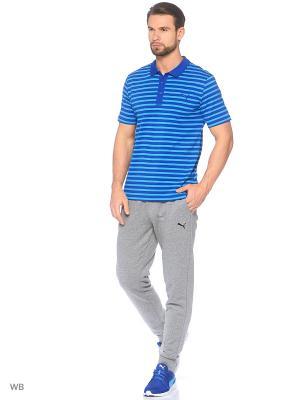 Футболка-поло ESS Striped Jersey Polo Puma. Цвет: лазурный