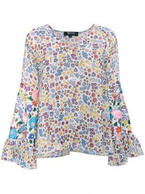 Блузка с цветочным принтом All Things Mochi. Цвет: многоцветный