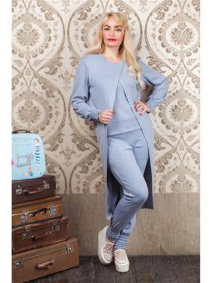 Спортивный костюм Дымка MARRUSHKA. Цвет: серо-голубой
