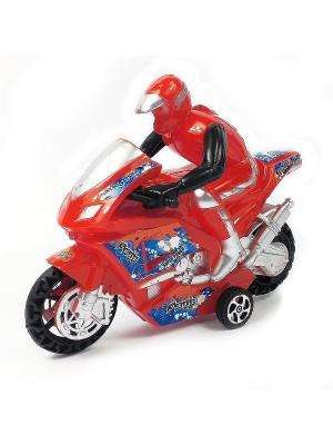 Мотоциклист Азбука Тойс. Цвет: красный