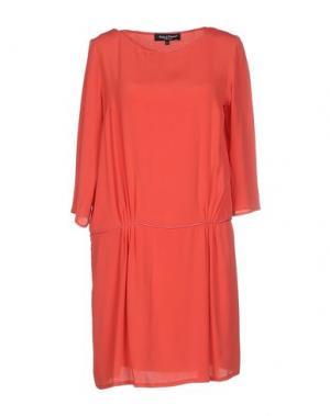 Короткое платье ADELE FADO. Цвет: кирпично-красный