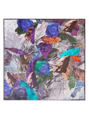 Платок Eleganzza. Цвет: бирюзовый, светло-серый, темно-фиолетовый