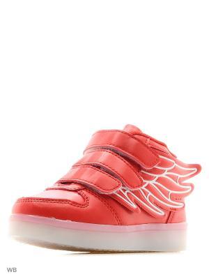 Светящиеся кроссовки Kids Wings LedShoes. Цвет: красный
