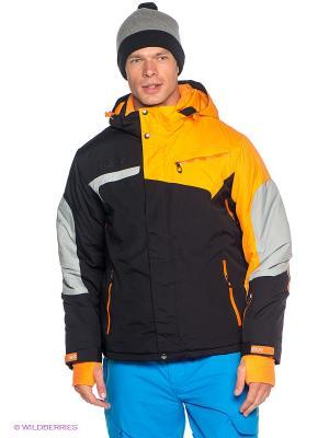 Куртка Baon. Цвет: оранжевый, черный
