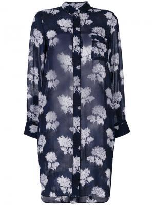 Floral embroidered blouse Ganni. Цвет: синий