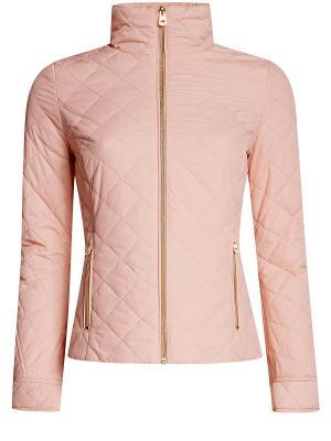 Куртка Oodji. Цвет: персиковый