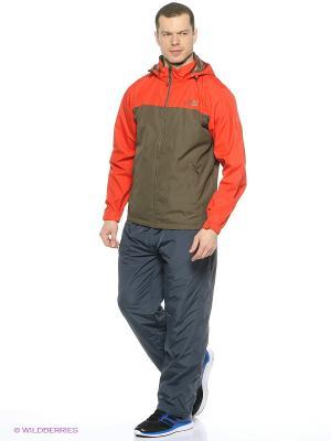 Куртка ANTA. Цвет: темно-коричневый, красный