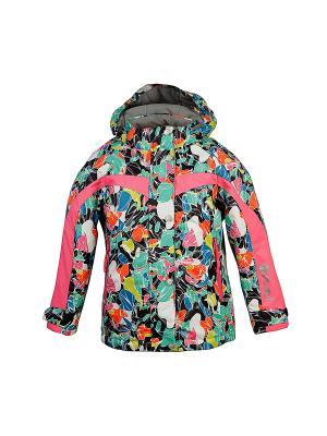 Куртка для девочки atPlay. Цвет: серо-зеленый