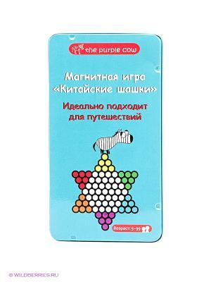 Магнитная настольная игра Китайские шашки. THE PURPLE COW. Цвет: голубой
