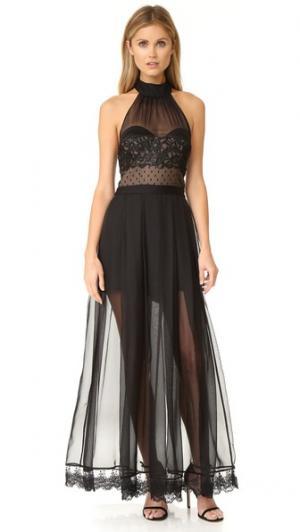 Платье Natural High Three Floor. Цвет: черный/телесный