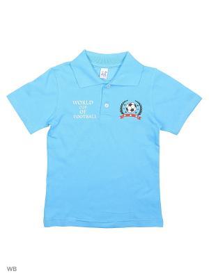 Футболка-поло K&R BABY. Цвет: голубой