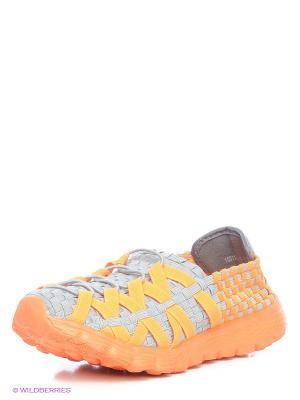 Ботинки Daze. Цвет: серый, оранжевый