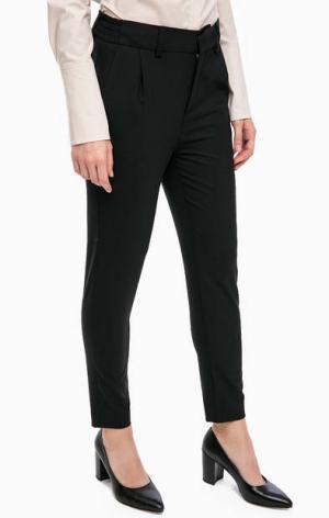 Зауженные книзу укороченные брюки в классическом стиле DRYKORN. Цвет: черный