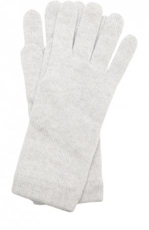Вязаные перчатки из кашемира Johnstons Of Elgin. Цвет: светло-серый