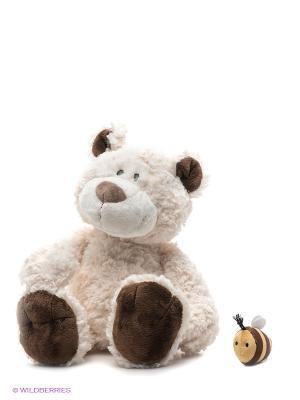 Игрушка Медвежонок с пчелкой, 50 см. NICI. Цвет: молочный, коричневый