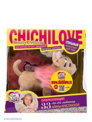 Плюшевая собачка Чихуахуа принцесса, с розовой пушистой сумкой, 20 см 12/12 Simba. Цвет: розовый, бежевый