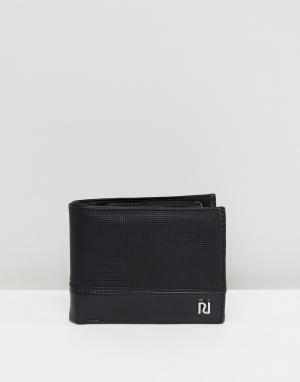 River Island Черный фактурный бумажник. Цвет: черный