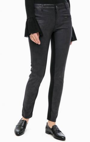 Черные брюки с карманом на молнии LERROS. Цвет: черный