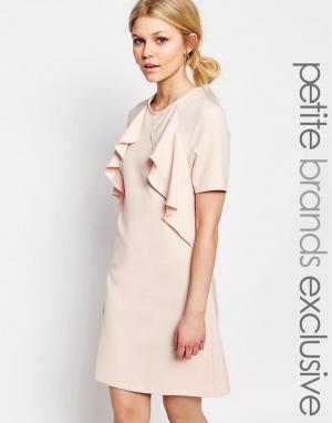 Alter Petite Цельнокройное платье с короткими рукавами. Цвет: розовый