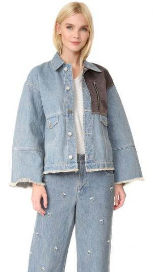 Куртка Tuesday Sandy Liang. Цвет: черника
