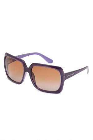 Очки солнцезащитные Givenchy. Цвет: фиолетовый