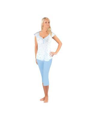 Пижама BELARUSACHKA. Цвет: голубой