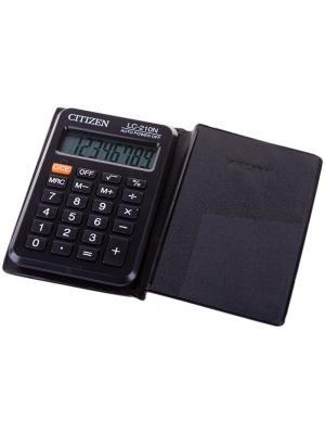 Калькулятор настольный SDC-444S 12 разрядов, двойное питание, 153*199*31 мм, черный CITIZEN. Цвет: черный