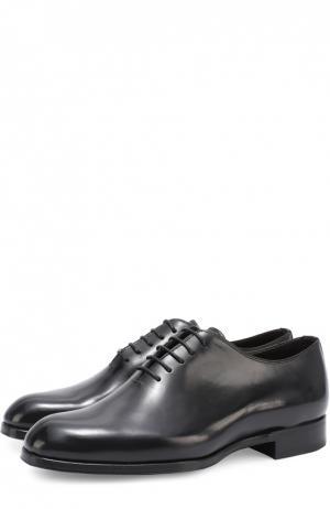 Классические кожаные оксфорды Maxverre. Цвет: черный