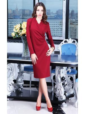 Платье Lussotico. Цвет: бордовый