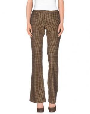 Повседневные брюки TERESA DAINELLI. Цвет: хаки