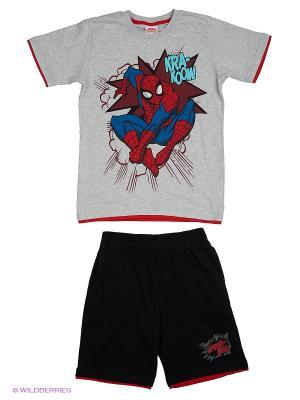 Комплект Spider-Man. Цвет: серый меланж, черный
