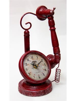 Часы Телефон настольные кварцевые 18x12x28 Magic Home. Цвет: красный