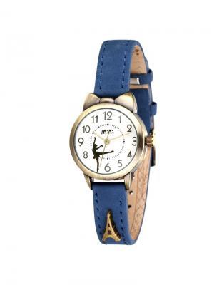 Наручные часы MN2022blue Mini.. Цвет: синий, серо-коричневый