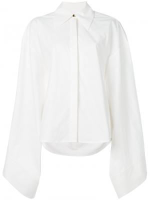Рубашка с объемными рукавами A.W.A.K.E.. Цвет: белый