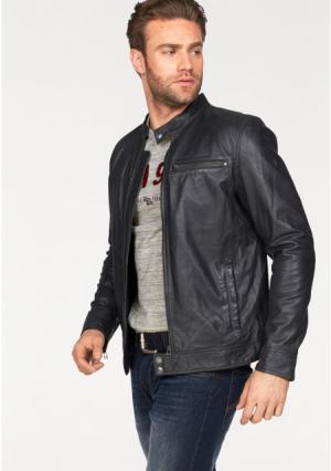 Кожаная куртка Rhode Island. Цвет: серый
