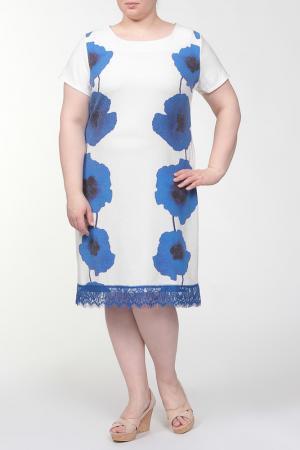 Платье QNEEL Q'NEEL. Цвет: синий, молочный
