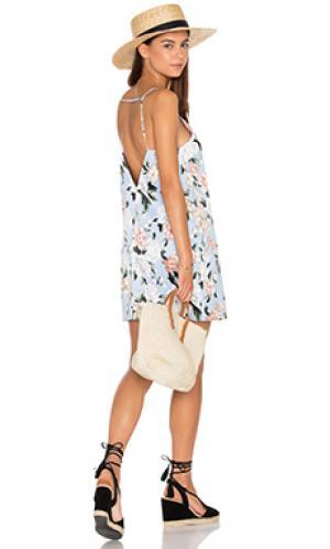 Платье-футляр Lucca Couture. Цвет: синий