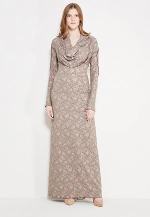 Платье Uona. Цвет: бежевый