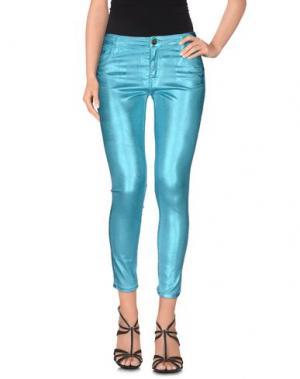 Джинсовые брюки-капри 75 FAUBOURG. Цвет: лазурный