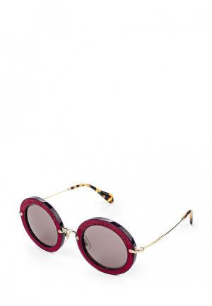 Очки солнцезащитные Miu. Цвет: фуксия