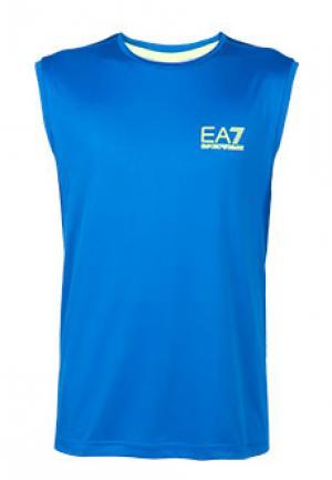 Майка EA7. Цвет: голубой