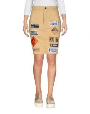 Джинсовая юбка KTZ. Цвет: бежевый